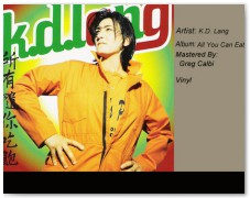 K.D. Lang- All You Can Eat