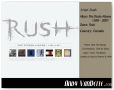 Rush- The Studio Albums